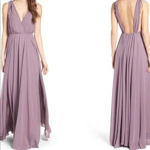 Lulus Chiffon V-Neck Gown XS
